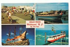HELLO FROM WILDWOOD - NEW JERSEY BY THE SEA - POSTCARD # W-12