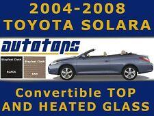 Solara Camry Convertible Top with heated glass Black or Tan in STAYFAST CLOTH