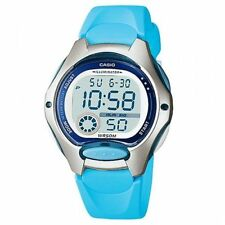 Casio Ladies Illuminator LCD Dial Light Blue Strap Sports Watch LW-200-2BVDF