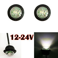 Mini 3/4 inch Mount LED Bullet Lamp Truck Trailer Round Side Marker Lorry 12 24V