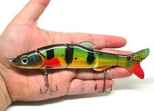"6.5"" Multi Jointed Bass Pike Muskie Fishing Lure Bait Swimbait Life-like Perch"