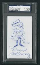 """Roger Armstrong signed Sketch 3""""x5"""" card PSA Authenticated slabbed The Inspector"""