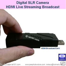 HDMI live Streaming Broadcast Card for Digital SLR Camera to YouTube Facebook