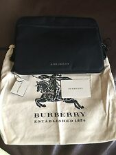 NWT Burberry London Nylon Aidan Ipad Cover, Black, Dust bag $475