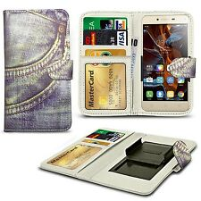 For verykool s4510 Luna - Clip Printed Series PU Leather Wallet Case