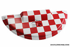 Red/white checker paint spare wheel cover for Vespa PX T5 LML