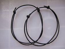 1 x Black Leather Cord Lucky Bracelet Anklet Adjustable For Men Women Surf