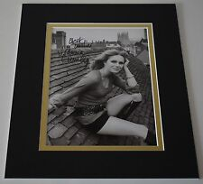 Joanna Lumley Signed Autograph 10x8 photo display Avengers AFTAL & COA