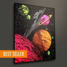 Blacklight Tapestry Fluorescent Wall Hanging Poster Galaxy Outer Space Kids Room