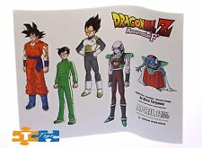 Dragonball Z Resurrection F GOKU GOHAN VEGETA & MINIONS Sticker Sheet Set Lot