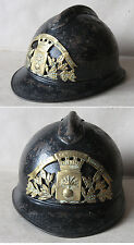WWI FRENCH ADRIAN HELMET MODEL 1915 M15 / ARMY FIREFIGHTERS / ESTREES St DENIS