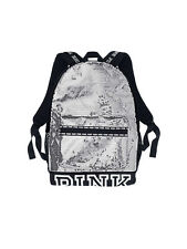 Victoria's Secret PINK Bling Sequin Campus Backpack Silver Black NWT NIP RARE