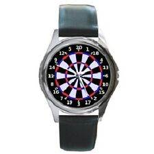 DARTBOARD DARTS ROUND WRISTWATCH **GREAT GIFT ITEM**