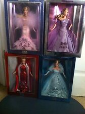 Barbie 2000, 2001, 2002, & 2003 Collector Edition Dolls (complete  set)