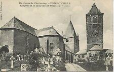 CARTE POSTALE ENVIRONS DE CHERBOURG QUERQUEVILLE EGLISE ET CHAPELLE ST GERMAIN