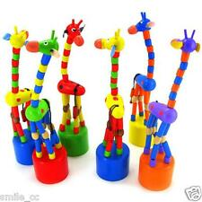 New Kids Intelligence Toy Dancing Stand Colorful Rocking Giraffe Baby Wooden Toy