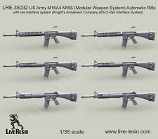 Live Resin 1/35 US Army M16A4 MWS Automatic Rifle #LRE35032