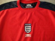 VINTAGE ENGLAND TRAINING SHIRT (LARGE) UMBRO