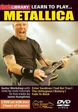 Lick Library LEARN TO PLAY METALLICA Monsters of Metal Guitar Lessons Video DVDs