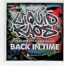 (FF205) Liquid Kaos ft Kirsty Hawkshaw, Back In Time - DJ CD