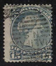 Canada 1868 Large Queen 15c blue grey #30b Halifax roller cancel