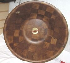 "New Weavewood American Walnut Large 18"" Wood Salad/ Dough Bowl with Tags"