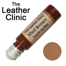 MEDIUM BROWN Leather Paint Touch Up for Sofa Car Shoes Handbag & more.