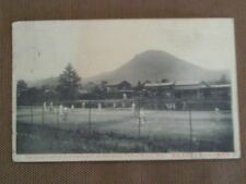 SCARCE 1911 POSTCARD TENNIS COURT PLAYERS GAME KARUIZAWA MOUNT ATAGO TOKIO JAPAN