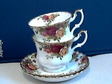 """Deux royal albert """"old country roses"""" tasses & soucoupes - 1STS-angleterre"""