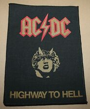 AC/DC, Highway to Hell,  small printed Backpatch, Vintage 70's / 80's, rar, rare