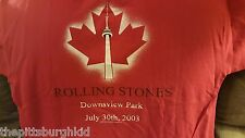 NICE 2002-2003 ROLLING STONES FORTY LICKS SARS CONCERT T SHIRT XL CANADA