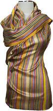 Schal 100% Seide gewebt Streifen stripes  70 x 200 scarf silk soie écharpe