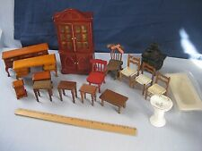 Dollhouse Miniatures Furniture And Accessories Lot