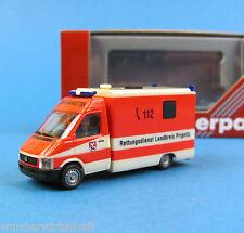 Herpa H0 045292 VW LT 2 Rettungswagen Rettungsdienst Prignitz RTW HO 1:87 Box