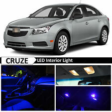 9x Blue LED Lights Interior Package Kit for 2011-2014 Chevy Cruze + TOOL
