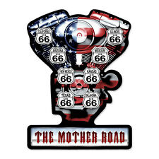 MOTORCYCLE MOTHER ROAD Schild 48cm Metall sign Motor V Twin Engine Harley Route