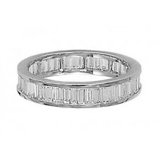 1 Carat Baguette Cut Diamonds Full Eternity Wedding Ring in 18K White Gold