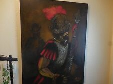 "Empasto Oil Painting on Canvas of Spanish Conquistador by Roberto Mena 40"" X 30"""