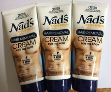 Nad's For Men Body Hair Removal Cream 6.8 oz (Pack Of 3 Tubes)