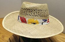 VINTAGE DORFMAN PACIFIC WOMENS STRAW HAT SIZE MEDIUM IN VERY GOOD CONDITION