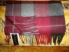 NWT STEWART OF SCOTLAND MULTICOLOR PLAID CASHMERE SCARF 61 X 12 ½  inches