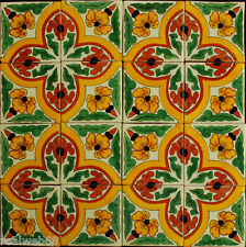 "W167 - 16 Decorative 4x4"" Mexican Talavera Decorative Tile"