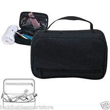 Black Travel Kit Organizer Accessories Bathroom Cosmetics Toiletry Pouch Bag