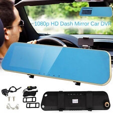 """Hot 4.3"""" HD 1080P Dual Lens Car Rear view Mirror DVR Camera Dash Cam Recorder DH"""