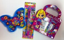 Lot Of 3 Lisa Frank Items 6 Color Pen 20 Mini Erasers, Fashion Stickers & Tattoo