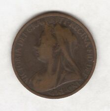 1899 QUEEN VICTORIA ONE PENNY COIN