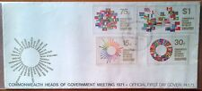 Singapore FDC - 1971 Commonwealth Head of Govt meeting stamp set