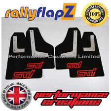 bavettes SUBARU IMPREZA Hayon 08-14 Qty4 rallyflapZ 4mm noir PVC STi style Rouge