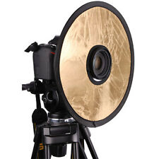 "CowboyStudio 12"" 2in1 Circular Lens-Mount Light Reflector Silver / Gold"