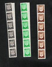 Israel Town Emblems Coil Strips of 30 MNH RARE!!